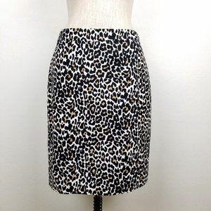 J. Crew Animal Print LIned Pencil Skirt NEW